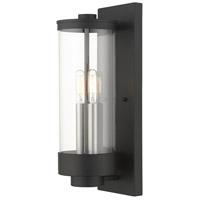 Livex Lighting 20722-14 Hillcrest 2 Light 16 inch Textured Black Outdoor Wall Lantern