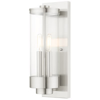 Livex 20722-91 Hillcrest 2 Light 16 inch Brushed Nickel Wall Lantern