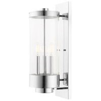 Hillcrest 3 Light 21 inch Polished Chrome Wall Lantern