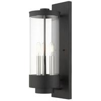 Livex Lighting 20724-14 Hillcrest 3 Light 21 inch Textured Black Outdoor Wall Lantern
