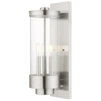 Hillcrest 3 Light 21 inch Brushed Nickel Wall Lantern