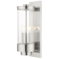 Livex 20724-91 Hillcrest 3 Light 21 inch Brushed Nickel Wall Lantern