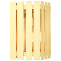 Livex 20751-12 Greenwich 1 Light 10 inch Satin Brass Outdoor Wall Lantern