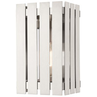 Livex 20751-91 Greenwich 1 Light 10 inch Brushed Nickel Outdoor Wall Lantern