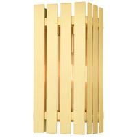 Livex 20752-12 Greenwich 1 Light 13 inch Satin Brass Outdoor Wall Lantern
