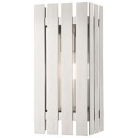 Livex 20752-91 Greenwich 1 Light 13 inch Brushed Nickel Outdoor Wall Lantern