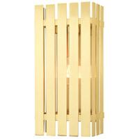 Livex 20753-12 Greenwich 1 Light 17 inch Satin Brass Outdoor Wall Lantern