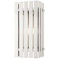 Livex 20753-91 Greenwich 1 Light 17 inch Brushed Nickel Outdoor Wall Lantern