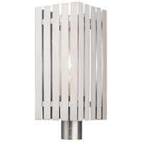 Livex Lighting 20756-91 Greenwich 1 Light 20 inch Brushed Nickel Outdoor Post Top Lantern