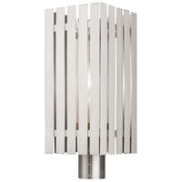 Livex 20756-91 Greenwich 1 Light 20 inch Brushed Nickel Outdoor Post Top Lantern