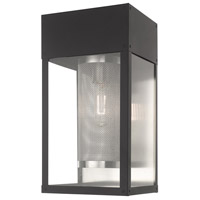 Livex 20762-04 Franklin 1 Light 16 inch Black Wall Lantern