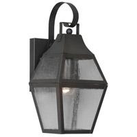 Livex Lighting Augusta 1 Light Outdoor Wall Lantern in Bronze 2080-07