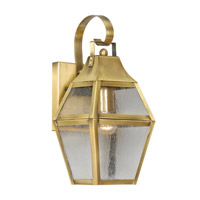 Livex Lighting Augusta 1 Light Outdoor Wall Lantern in Flemish Brass 2080-22