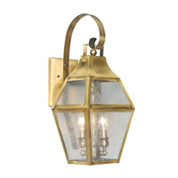 Livex Lighting Augusta 2 Light Outdoor Wall Lantern in Flemish Brass 2081-22