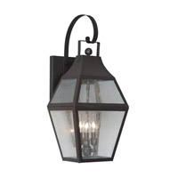 Livex Lighting Augusta 3 Light Outdoor Wall Lantern in Bronze 2082-07