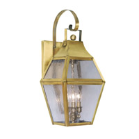 Livex Lighting Augusta 3 Light Outdoor Wall Lantern in Flemish Brass 2082-22