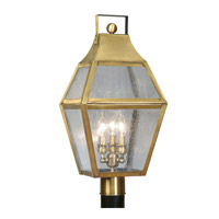 Livex Lighting Augusta 3 Light Outdoor Post Head in Flemish Brass 2083-22