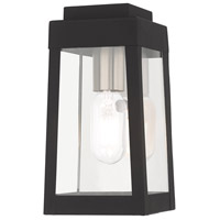 Oslo 1 Light 10 inch Black Wall Lantern