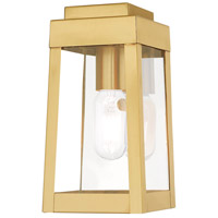 Oslo 1 Light 10 inch Satin Brass Wall Lantern