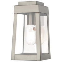 Oslo 1 Light 10 inch Brushed Nickel Wall Lantern