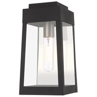Oslo 1 Light 12 inch Black Wall Lantern