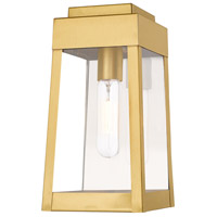 Oslo 1 Light 12 inch Satin Brass Wall Lantern