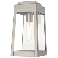 Oslo 1 Light 12 inch Brushed Nickel Wall Lantern