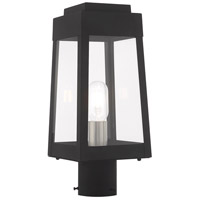 Livex 20853-04 Oslo 1 Light 15 inch Black Post Top Lantern