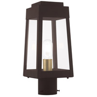 Livex 20853-07 Oslo 1 Light 15 inch Bronze Post Top Lantern