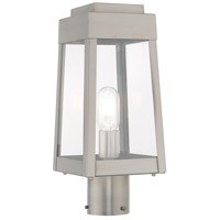 Livex Lighting 20853-91 Oslo 1 Light 15 inch Brushed Nickel Outdoor Post Top Lantern