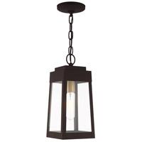 Livex 20854-07 Oslo 1 Light 6 inch Bronze Pendant Lantern Ceiling Light