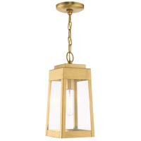 Livex 20854-12 Oslo 1 Light 6 inch Satin Brass Pendant Lantern Ceiling Light
