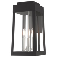 Oslo 3 Light 16 inch Black Wall Lantern