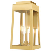 Oslo 3 Light 16 inch Satin Brass Wall Lantern