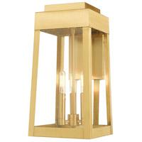 Livex 20855-12 Oslo 3 Light 16 inch Satin Brass Wall Lantern
