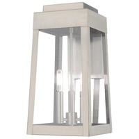 Livex 20855-91 Oslo 3 Light 16 inch Brushed Nickel Wall Lantern