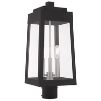 Livex 20856-04 Oslo 3 Light 20 inch Black Post Top Lantern