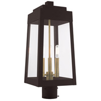 Livex 20856-07 Oslo 3 Light 20 inch Bronze Post Top Lantern