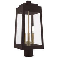 Livex 20856-07 Oslo 3 Light 20 inch Bronze Post Top Lantern