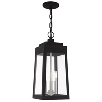 Oslo 3 Light 8 inch Black Pendant Lantern Ceiling Light