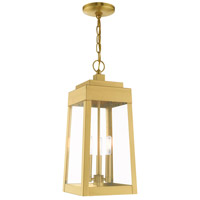 Oslo 3 Light 8 inch Satin Brass Pendant Lantern Ceiling Light