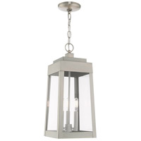 Oslo 3 Light 8 inch Brushed Nickel Pendant Lantern Ceiling Light