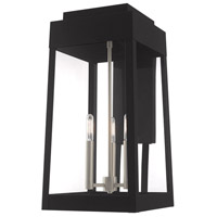 Oslo 3 Light 20 inch Black Wall Lantern