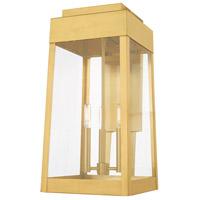 Livex 20858-12 Oslo 3 Light 20 inch Satin Brass Wall Lantern