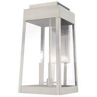Livex 20858-91 Oslo 3 Light 20 inch Brushed Nickel Outdoor Wall Lantern