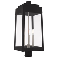Livex 20859-04 Oslo 3 Light 25 inch Black Post Top Lantern