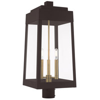 Livex 20859-07 Oslo 3 Light 25 inch Bronze Outdoor Post Top Lantern