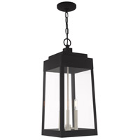 Oslo 3 Light 11 inch Black Pendant Lantern Ceiling Light