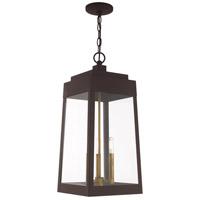 Livex 20860-07 Oslo 3 Light 11 inch Bronze Pendant Lantern Ceiling Light
