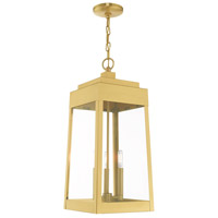 Oslo 3 Light 11 inch Satin Brass Pendant Lantern Ceiling Light